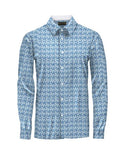 Patterned Blue Floral Athlete-Cut Dress Shirt