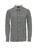Patterned Gray Athlete-Cut Dress Shirt