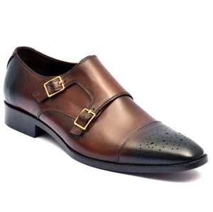 ELETE Handmade Patina Monk strap Shoes