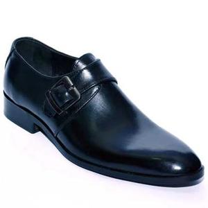 ELETE Handmade Single Monk Strap Leather Shoes