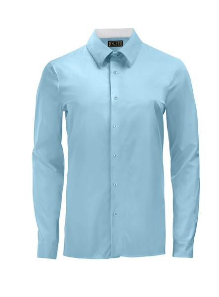 Light Blue Athlete-Cut Dress Shirt
