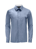 Ocean Blue Athlete-Cut Dress Shirt