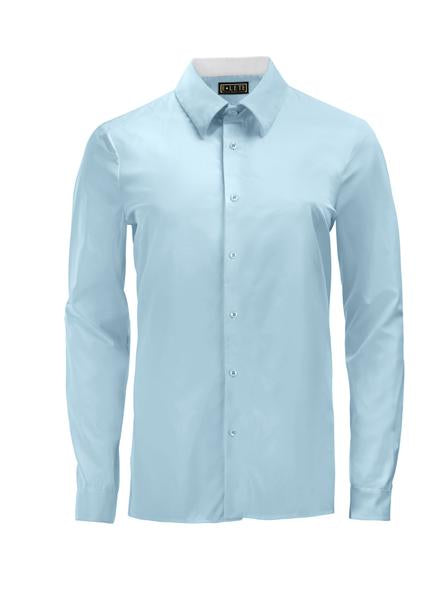 Sky Blue Athlete-Cut Dress Shirt