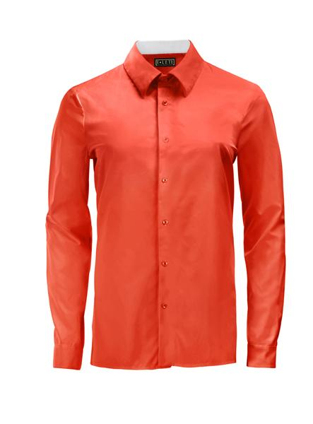 Candy Red Athlete-Cut Dress Shirt