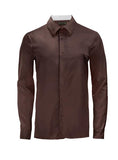 Maroon Athlete-Cut Dress Shirt