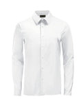 White Athlete-Cut Dress Shirt