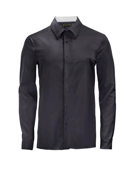 Charcoal Athlete-Cut Dress Shirt