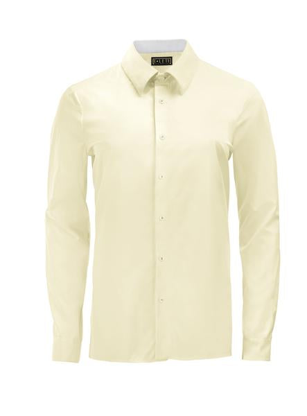 Yellow Athlete-Cut Dress Shirt