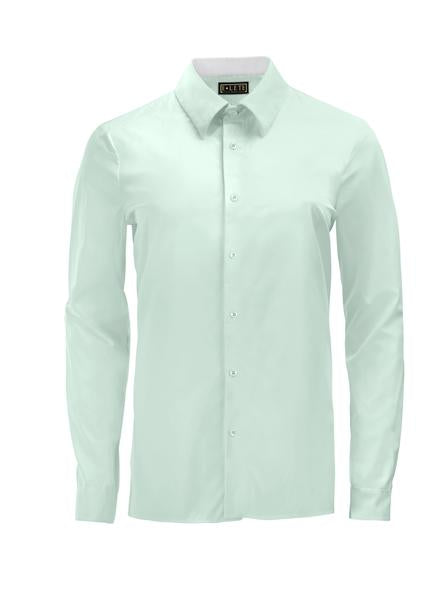 Light Green Athlete-Cut Dress Shirt