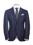 Pink Windowpane and Blue Suit