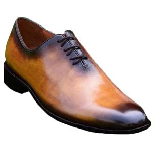 ELETE Handmade Brown Patina Oxford Shoes
