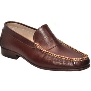 ELETE Handmade Brown Casual Leather Shoes