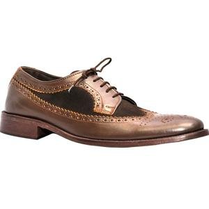 ELETE Handmade Brown Brook Stylish Leather Shoes