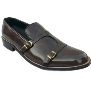 ELETE Handmade Double Monk-Strap Leather Shoes