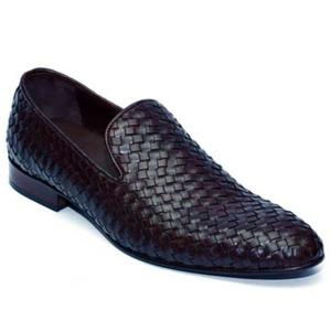 ELETE Hand Knitted Black-Brown Loafers