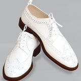 ELETE Handmade Brook Style White Oxfords