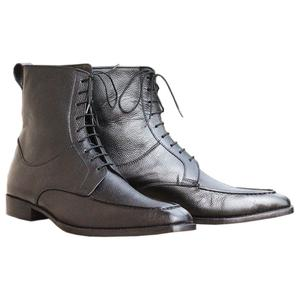 ELETE Handmade Black Leather Men Chukka Boot