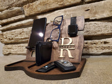 Load image into Gallery viewer, Personalized Desk Docking Station And Tray - Gifts For Him & Her
