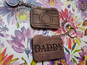 Camera Keychain-Father's Day Keychain