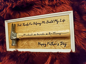 Father's Day Personalized Wall Frame with Hammer