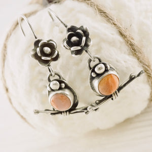 AOK - Coral and Twigs - Earrings