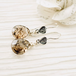 TN Rutilated Quartz Earrings (short)