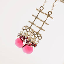 Load image into Gallery viewer, TN Magenta Reflections Earrings