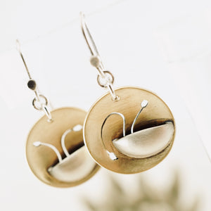 AOK - Potted Flowers Earrings (Brass)