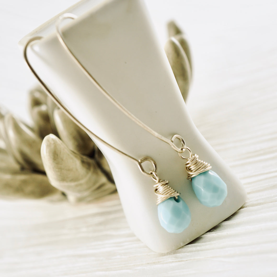 TN Sky Quartz Earrings (long)