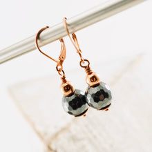 Load image into Gallery viewer, TN Hematite & Copper Earrings