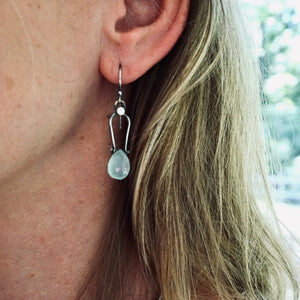 Petite Swings - Chalcedony Earrings 01