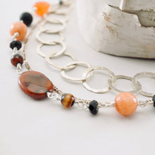 Load image into Gallery viewer, TN Three-Strand Agate Necklace (SS)