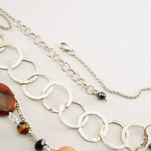 TN Three-Strand Agate Necklace (SS)