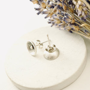 AOK - Reticulated Silver Pod Earrings (Studs)