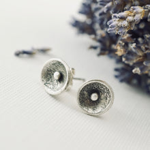 Load image into Gallery viewer, AOK - Reticulated Silver Pod Earrings (Studs)