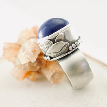Load image into Gallery viewer, AOK - Lapis Delight Statement Ring (Size: 7)