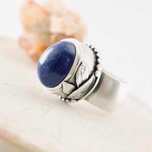 AOK - Lapis Delight Statement Ring (Size: 7)