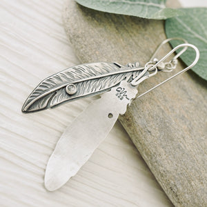 AOK - Feather Moonstone Earrings