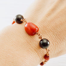 Load image into Gallery viewer, TN Coral and Garnet Bracelet