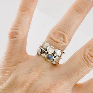 AOK - Labradorite Twigs and Leaves Ring (size 7)