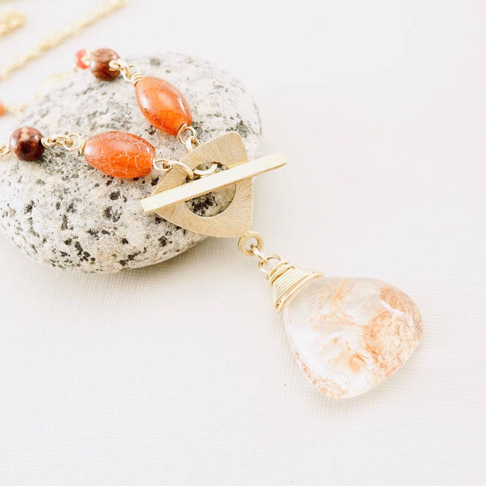 TN Phantom Quartz Necklace