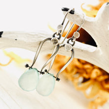 Load image into Gallery viewer, Petite Swings - Chalcedony Earrings 01