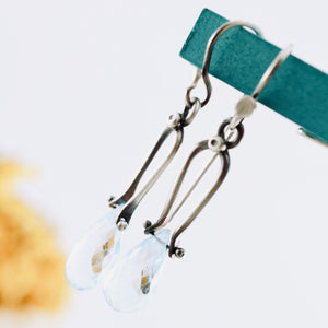 Petite Swings - Blue Topaz Earrings 04