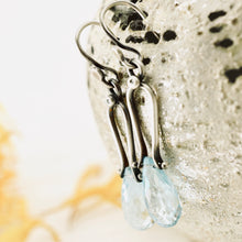 Load image into Gallery viewer, Petite Swings - Blue Topaz Earrings 04