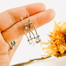 Load image into Gallery viewer, Petite Swings - Black Rutilated Quartz Earrings 10