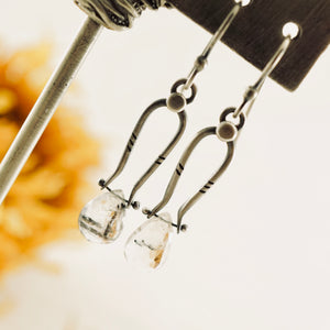 Petite Swings - Black Rutilated Quartz Earrings 10