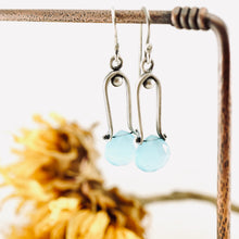 Load image into Gallery viewer, Petite Swings - Blue Chalcedony Earrings 08