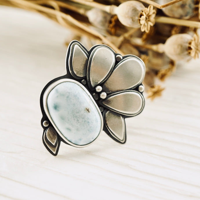 Big Joy - Oval Larimar Ring