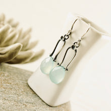 Load image into Gallery viewer, Petite Swings - Green Chalcedony Earrings 09