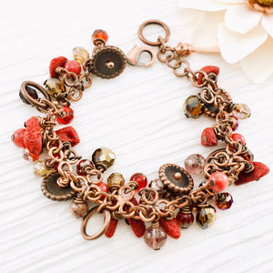 TN Coral Copper Cocktail Bracelet